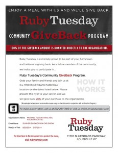 2014 Ruby Tuesday's Flyer